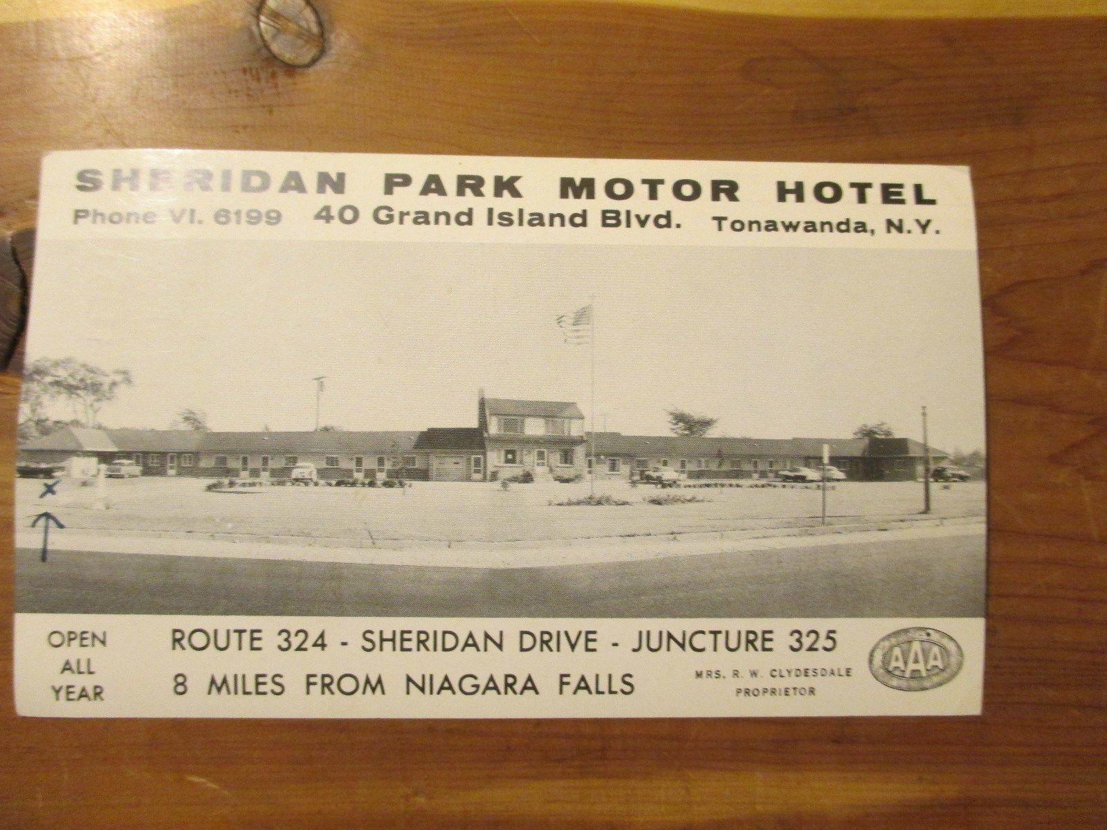 Sheridan Park Motor Hotel, Tonawanda, postcard (1958).jpg