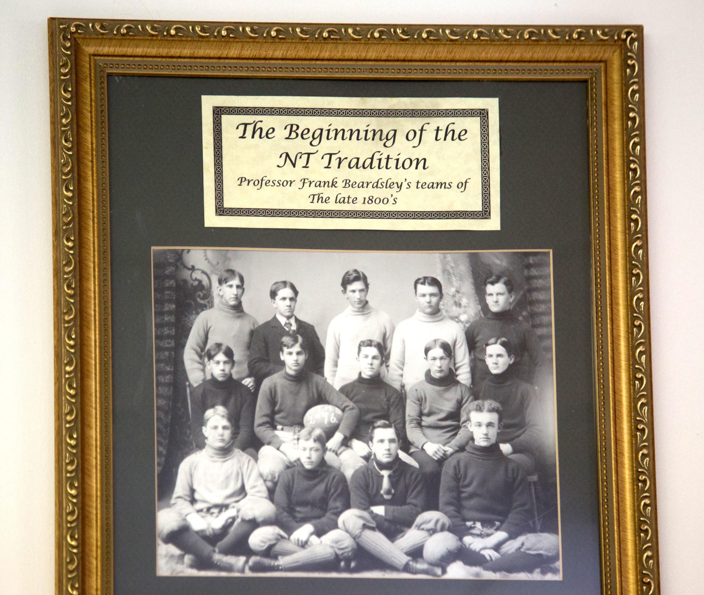 The Beginning of the NT Tradition, display at North Tonawanda Football Hall of Fame (2017).jpg