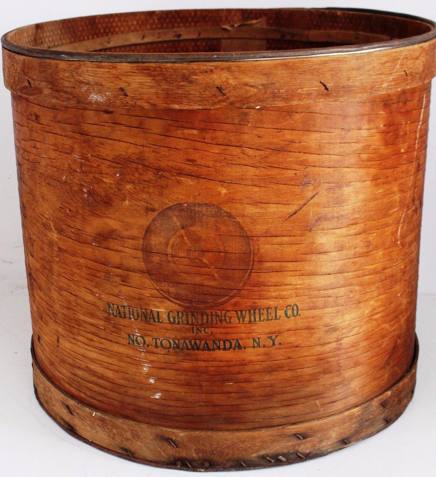 National Grinding Wheel, wood barrel (c1930).jpg
