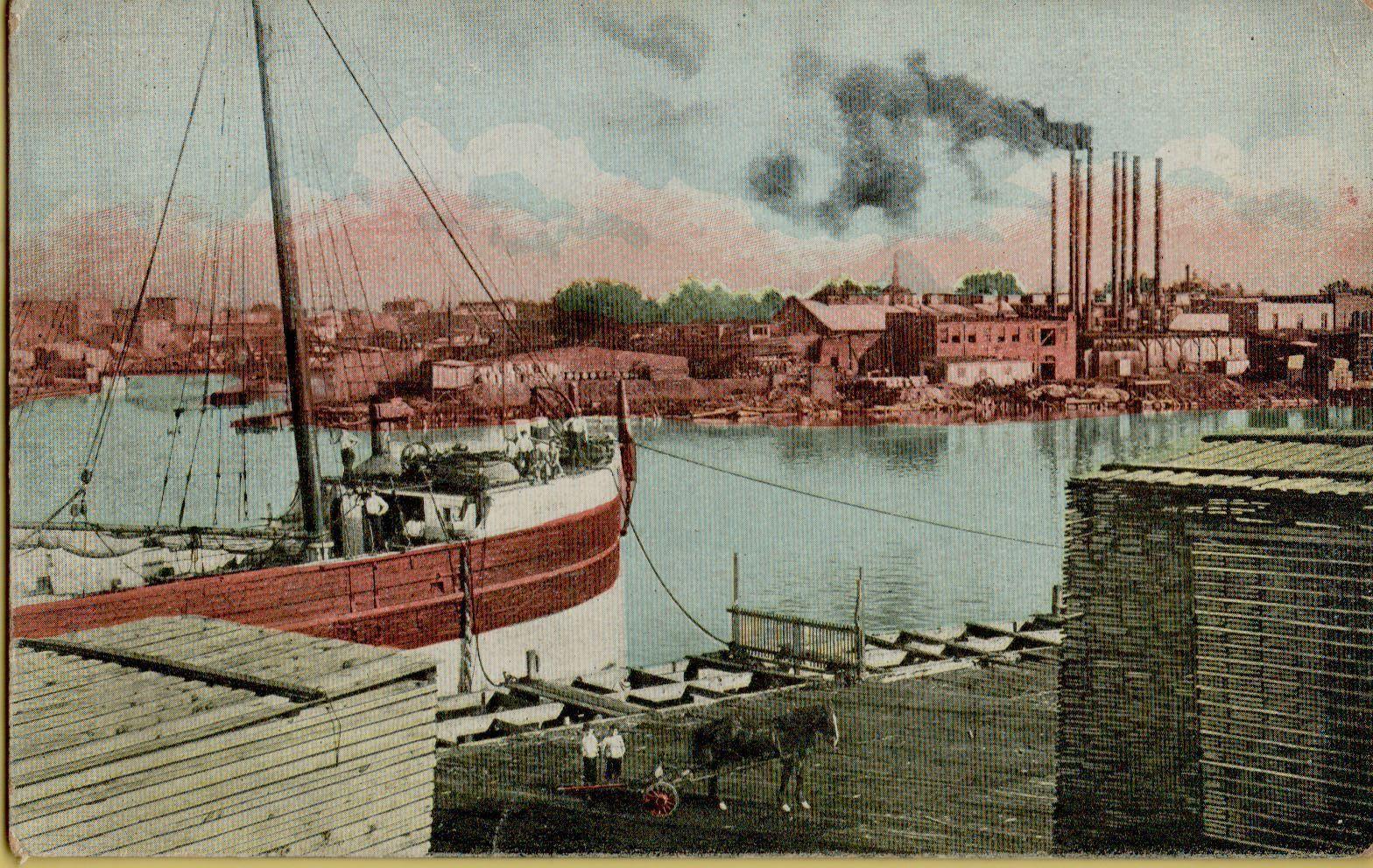 Harbor, Goose Island, postcard (1913).jpg