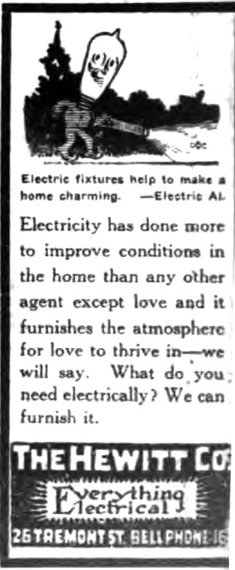 Hewitt Co., Everything Electrical, 26 Tremont, ad (Tonawanda News,1925-02-14).jpg
