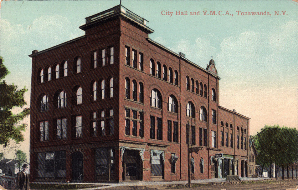 City Hall and YMCA, illustrated postcard.jpg