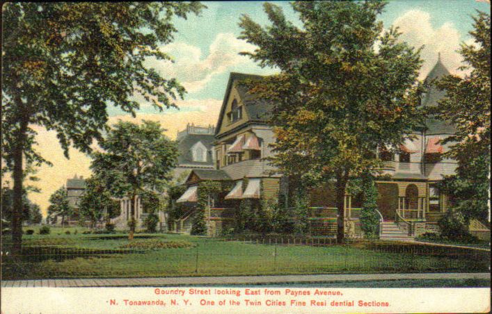 de Kleist home on Goundry Street Looking East from Payne Ave, postcard (1907).jpg