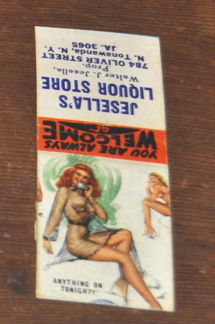 Jesella's Liquor Store, matchbook (c1940).JPG