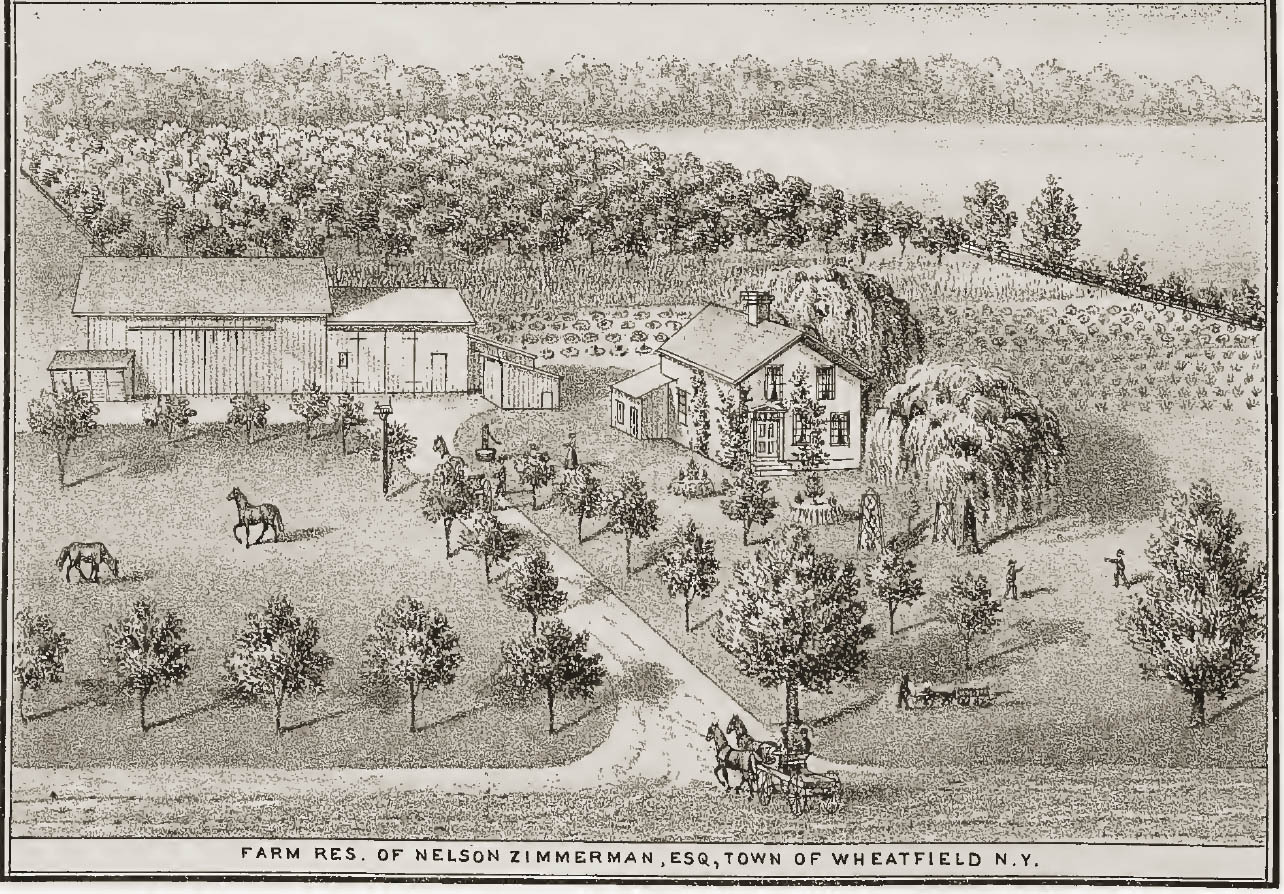 Farm residence of Nelson Zimmerman, Esq., illustration (History of Niagara County, 1821-1878).jpg