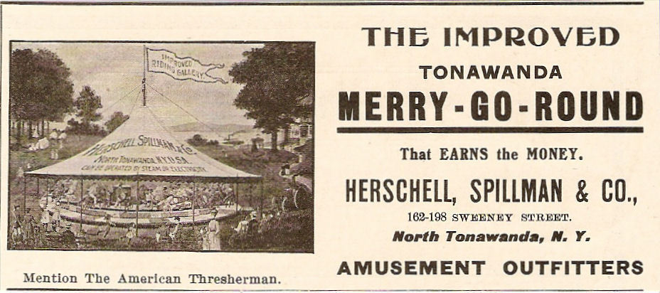 Herschell Spillman, The Improved Tonawanda Merry-Go-Round, ad (1903).jpg