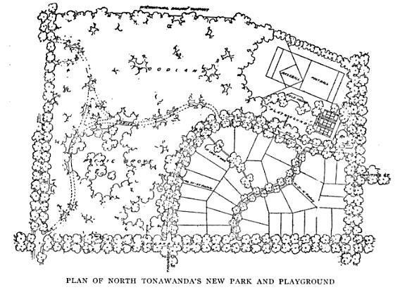 Plan for Pine Woods Park (Sweeney Park) and adjacent lots, North Tonawanda, NY (1917).jpg