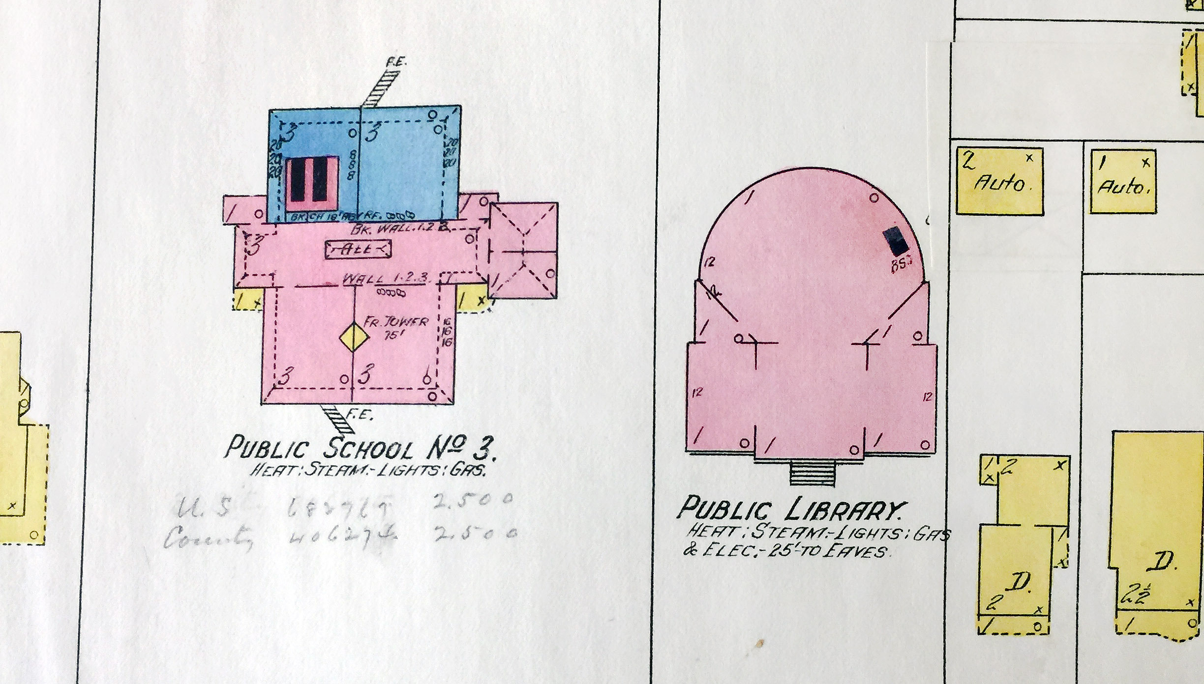 Goundry Street public school and library, map detail (Sanborn Map Company, 1910, 1913).jpg