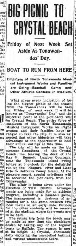 Big Picnic to Crystal Beach, article (Tonawanda News, 1915-07-21).jpg