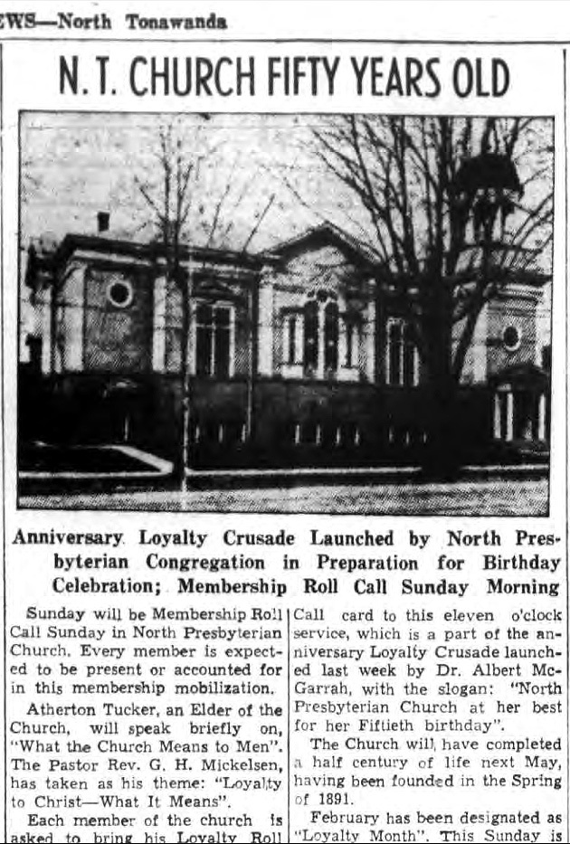 North Presbyterian Church Fifty Years Old, photo and article (Ton News 1941-01-31).jpg