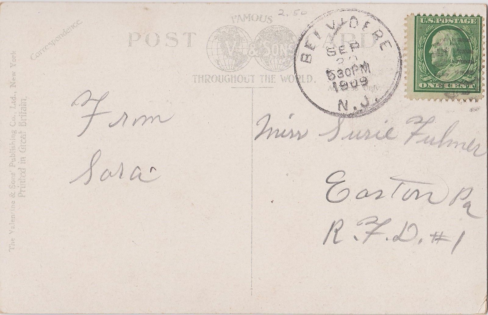 Goundry Street, postcard (1909) back.jpg