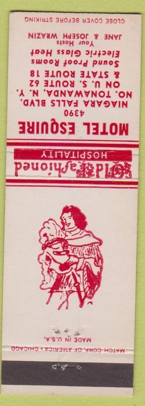 Motel Esquire, 4390 Niagara Falls Blvd, matchbook (c1950).jpg
