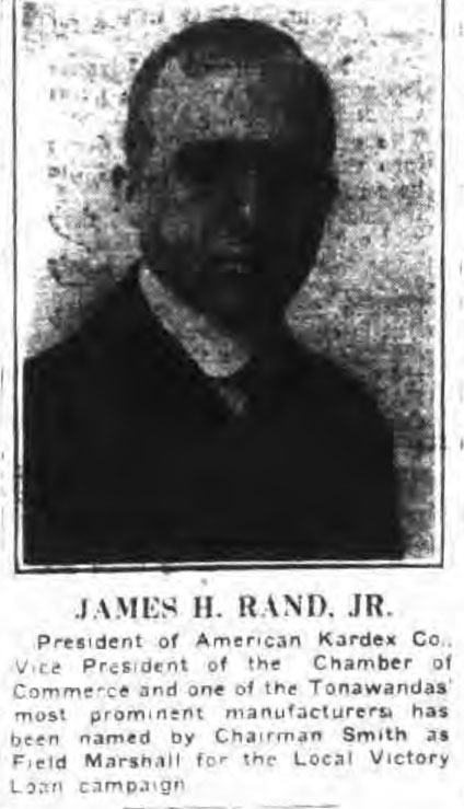 James H. Rand Jr, portrait (Tonawanda News, 1919-04-19).jpg