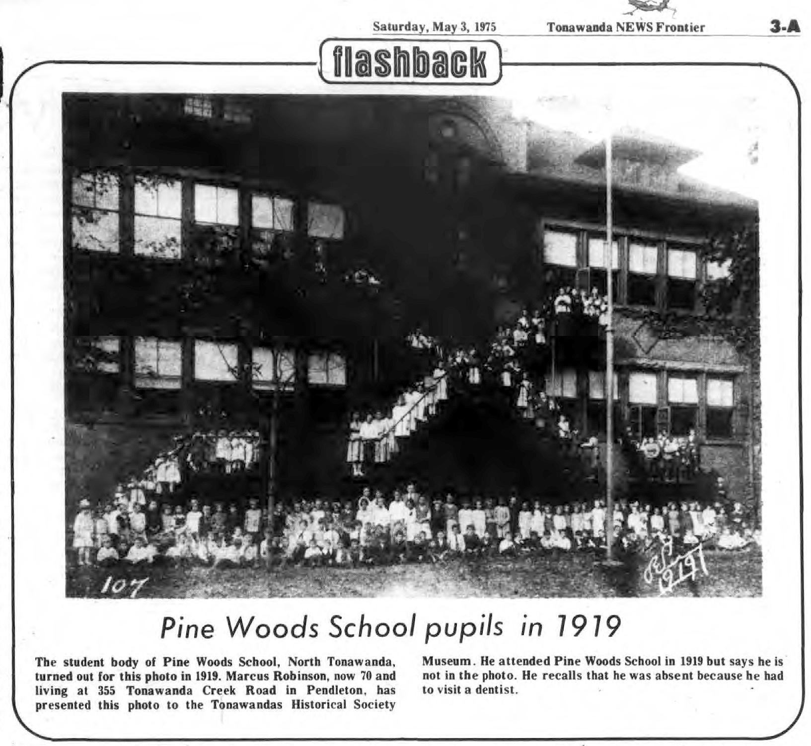Pine Woods School, photo article (1975-05-03, Tonawanda News).jpg