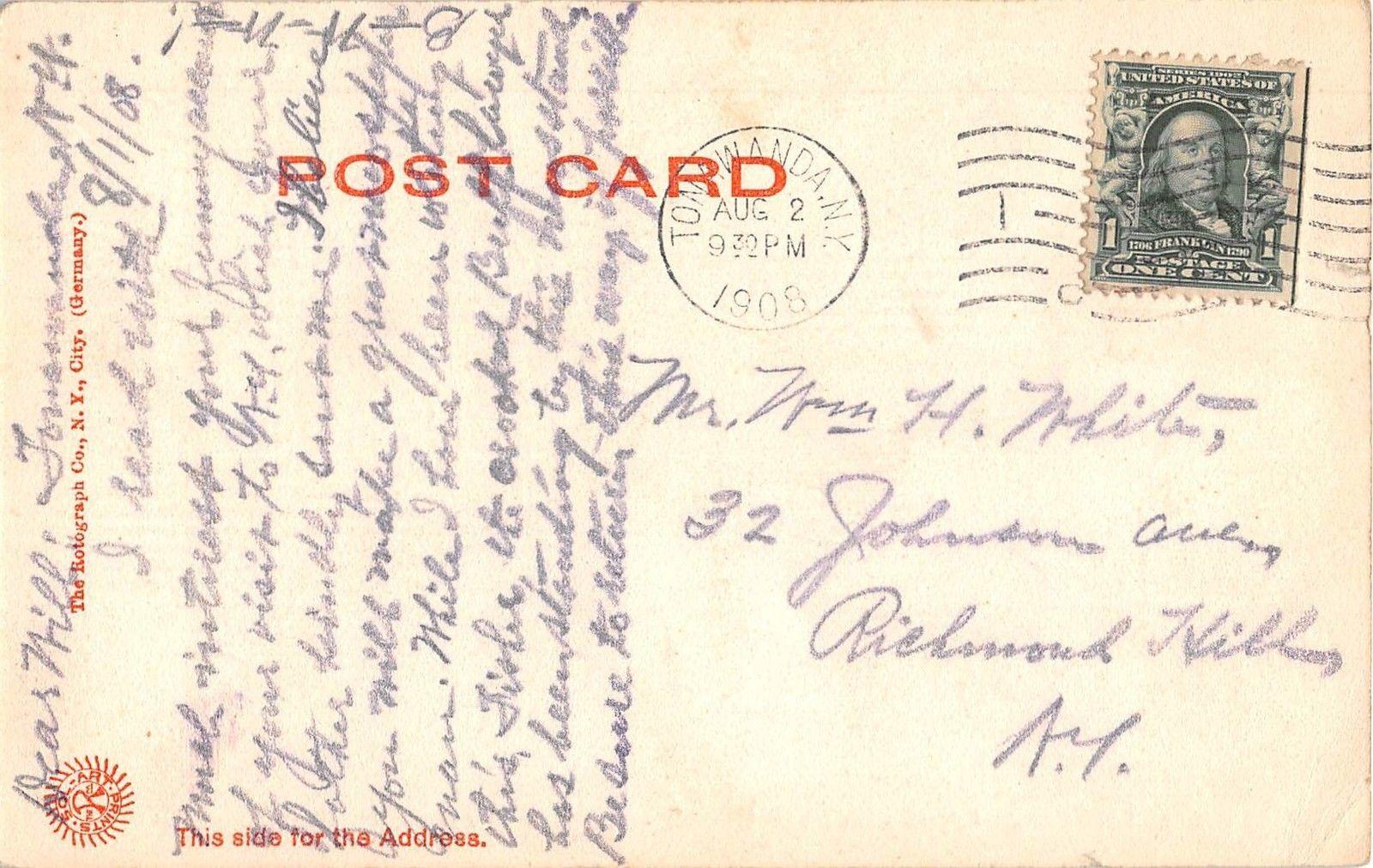 Tonawanda Island - Lumber District - North Tonawanda NY, postcard (1908) reverse.jpg