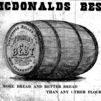 Tonawanda Roller Mills, McDonalds Best flour, ad (Tonawanda News, 1896-01-02).jpg