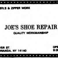 Joe's Shoe Repair, 236 Oliver, ad (Tonawanda News, 1985).jpg