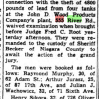 Three arrested for thefts from John D Wood Product Co., 555 River, article (Ton News, 1949-04-27).jpg