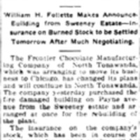 Chocolate Company to Stay Here, Frontier, article (Tonawanda News, 1915-04-08).jpg