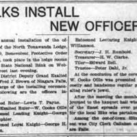Elks Install New Officers, article (Tonawanda News, 1904-04-13).jpg