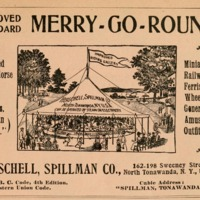 Improved Merry-Go-Rounds, illustrated ad (World almanac and encyclopedia, 1904 PD).png