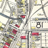 Lumber Exchange Bank building, Robertson, owned by George F Rand, nortwest corner of Goundry and Webster, map detail (1908).jpg