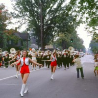 NT High School band and baton twirlers, parade, photo (1972).jpg