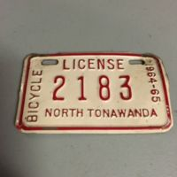Bicycle license, North Tonawanda, 1964-1965.jpg