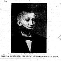 Martin Reisterer, Cashier German-American Banl, photo (1893-08-05 Tonawanda News).jpg