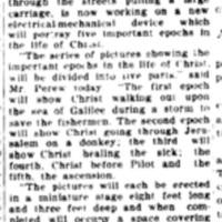 Mechanical device to portray life of Christ, article (Tonawanda News, 1919-06-21, 0745.jpg