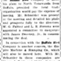 After factories, Buffalo Sled moving, article (Tonawanda News, 1908-10-27).jpg