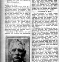 Invents device picturing life in Bible days, article (Buffalo News, 1919-06-21).jpg