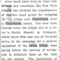 Hand Power Obsolete, swing bridge, article (Tonawanda News, 1907-11-15).jpg