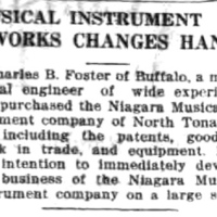 Musical Instrument Works Changes Hands, Niagara MIMC, article (Tonawanda News, 1917-10-02).jpg