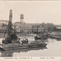 Tonawanda Dam, looking NE, photo (1916-04-21).jpg