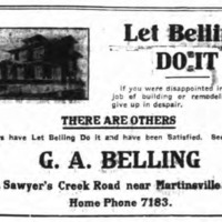 G. A. Belling, homebuilder, ad (Tonawanda News, 1912-10-19).jpg