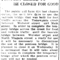 Pontoon bridge to be closed for good, article (Tonawanda News, 1917-12-29).jpg