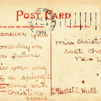 Felton High School, postcard 2 back (1907).jpg