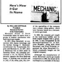 Meet Your Street - Mechanic Street (Tonawanada News, 1970-10-10).jpg