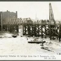Temporary Webster Street bridge from the North Tonawanda side, photo (NYSA, 1918-02-14).jpg
