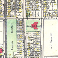 Felton High School on 1908 map.jpg