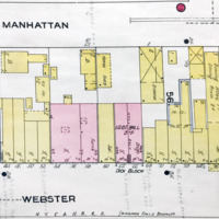 Webster Street north of Tremont, map detail (Sanborn Map Company, 1910, 1913).jpg