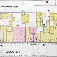 Webster Street north of Tremont, map detail (Sanborn Map Company, 1910, 1913).jpg
