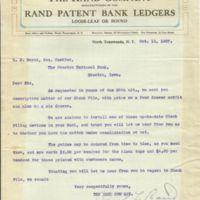 Rand Company, Patent Bank Ledger, letter (1907-10-11).jpg