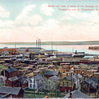 Birds-eye view of some of the dockage at Twin Cities, postcard (1908).jpg
