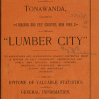 North Tonawanda and Tonawanda - The Lumber City, book cover (1891).jpg