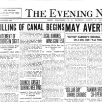 Filling of canal begins, article (Tonawanda News, 1923-08-16).jpg