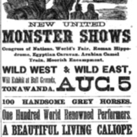 Washburn and Arlingtons Monster Shows, ad (Tonawanda Herald, 1890-07-30).jpg