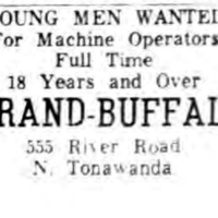 Strand-Buffalo, 555 River Road, ad (Ton News, 1956-04-11).jpg