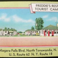 Freddies Rest Tourist Camp, Niagara Falls Blvd, postcard (c1955).jpg